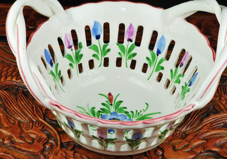 Ceramic Flower Basket Made In Portugal 1108 25 00
