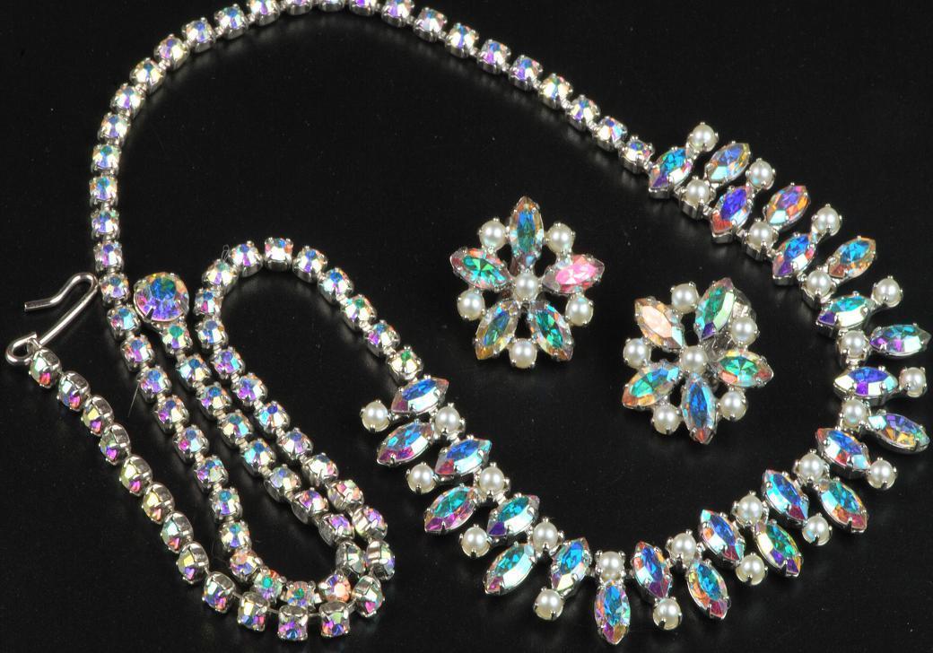 B David Demi Necklace Amp Earrings Set Aurora Borealis